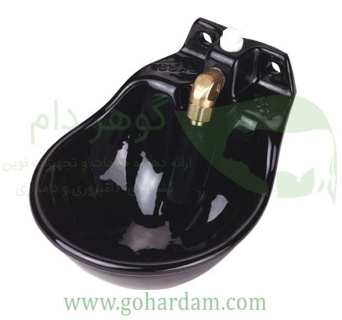 آبخوری فلزی کربل با مکانیزم میلهای (KERBL Bowl G51 with pipe valve)