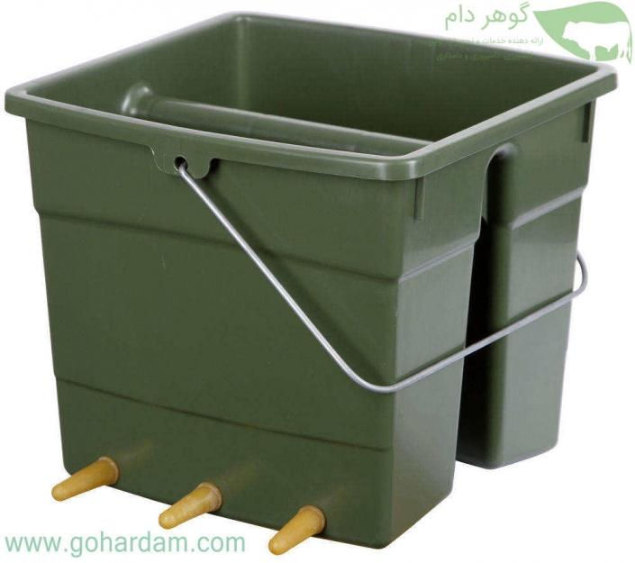 سطل شیردهی دو طرفه بره و بزغاله کربل (KERBL Lamb Feeding Bucket)