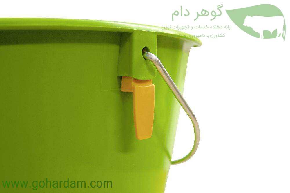 گیره پستانک سطل شیر گوساله کربل با مکانیزم بهداشتی (KERBL Calf Bucket with Hygienic Valve)